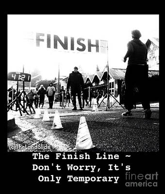 The Finish Line Print by Ronnie Glover
