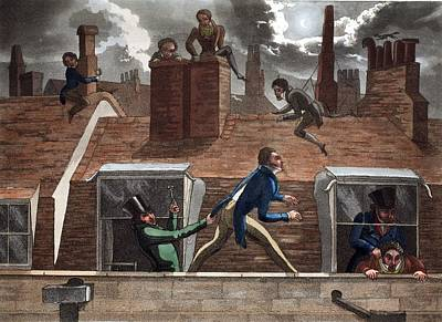 Rooftops Drawing - The Finishing Bore, Illustration by Daniel Thomas Egerton