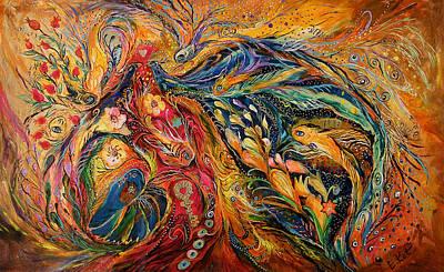 Kabbala Painting - The Fire Dance by Elena Kotliarker