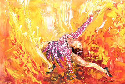 Painting - The Fire Dance by Miki De Goodaboom