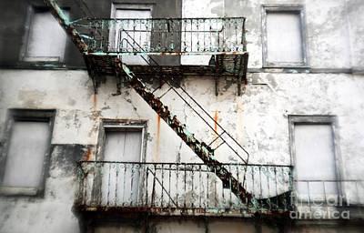 Photograph - The Fire Escape by John Rizzuto
