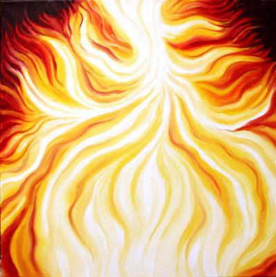 Painting - The Fire Falls  by Sandra Yegiazaryan