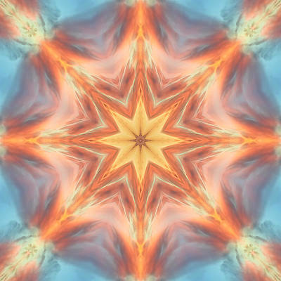 Digital Art - The Fire From Within Mandala by Beth Sawickie