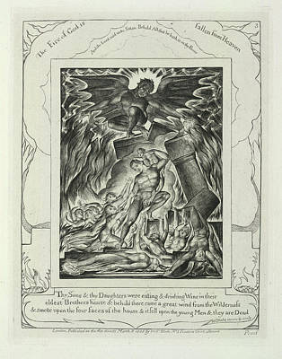 Blake Photograph - The Fire Of God by British Library
