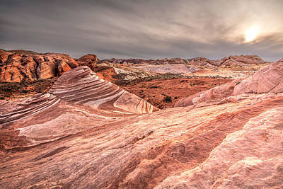 Red Rock Photograph - The Fire Wave by Peter Tellone