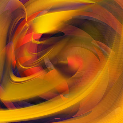Digital Art - The Fire Within Abstract by rd Erickson