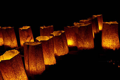 Luminaria Photograph - The Fire Within by Don Durante Jr
