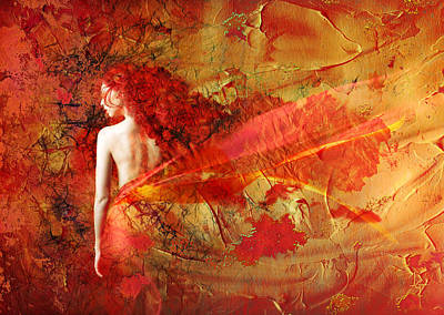 Kunst Painting - The Fire Within by Jacky Gerritsen