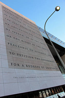 Newseum Photograph - The First Amendment At The Newseum by Cora Wandel