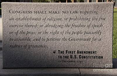 The First Amendment Art Print by Gayle Johnson