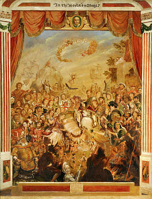 Globe Painting - The First Appearance Of William Shakespeare On The Stage by Litz Collection