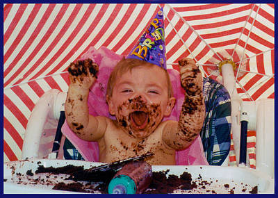 Photograph - The First Birthday Cake by Ron Haist