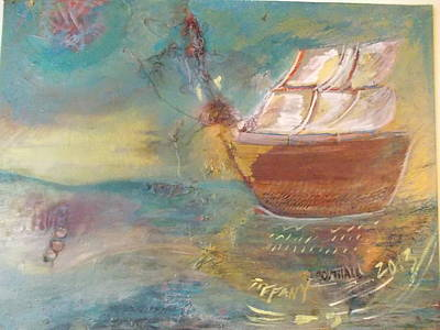 Black History Painting - The First Boat by Tiffany Southall