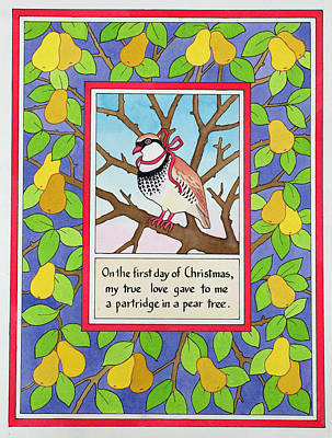 Pear Tree Photograph - The First Day Of Christmas by Lavinia Hamer