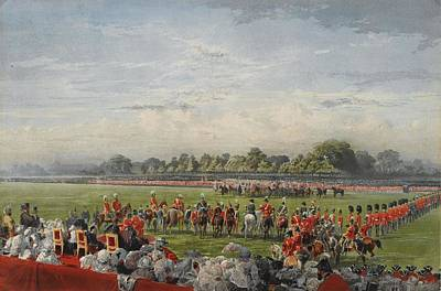 Victoria Drawing - The First Distribution Of The Vc by George Housman Thomas