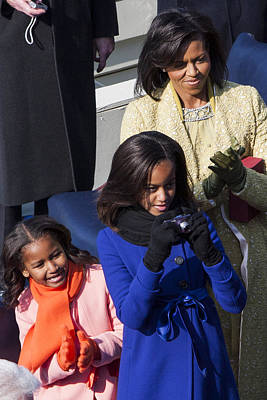 Michelle Obama Photograph - The First Family by JP Tripp