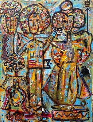 Obama Family Painting - The First Family by Randall Mass