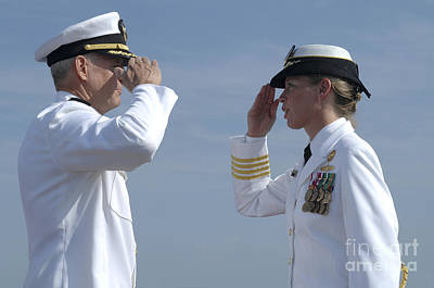 Tribute To Women Photograph - The First Female Commanding Officer by Stocktrek Images