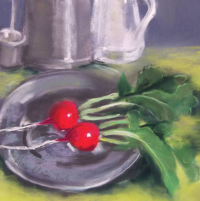 Pewter Painting - The First Harvest by Marie-Claire Dole