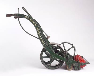 The First Lawn Mower Dating From 1830 Art Print