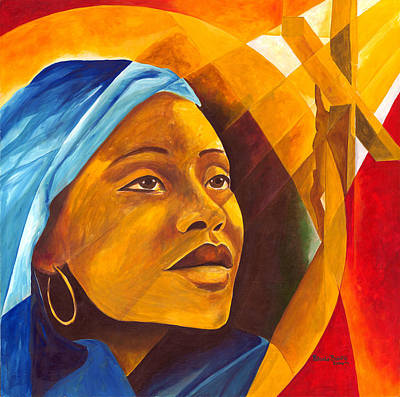 Haitian Painting - The First Mother by Patricia Brintle
