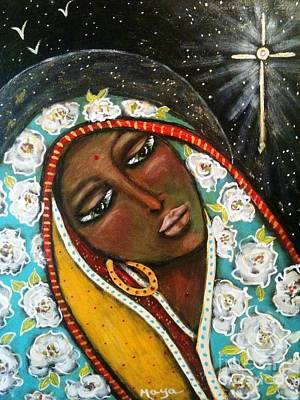 Sacred Art Painting - The First Noel by Maya Telford