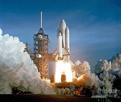 Photograph - The First Shuttle Launch by Rod Jones