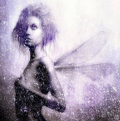 Freezing Digital Art - The First Spring Fairy by Gun Legler