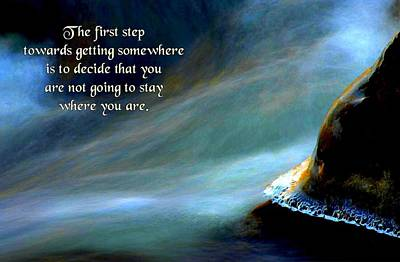 The First Step Art Print by Mike Flynn