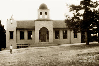 Photograph - The First Sunset School Carmel Circa 1907 by California Views Mr Pat Hathaway Archives