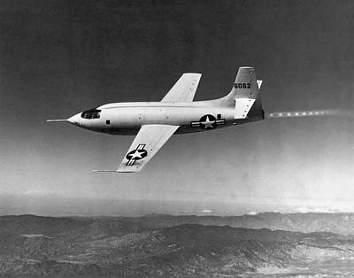 Jet Star Photograph - The First Supersonic Flight by Underwood Archives