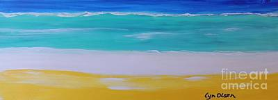 Painting - The First Wave by Lyn Olsen