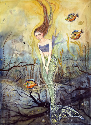 Painting - The Fish Are Biting by Katherine Miller