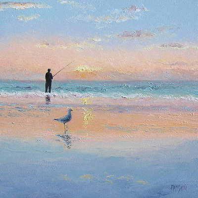 The Fisherman And The Seagull Art Print