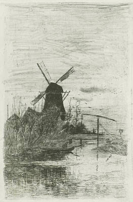 Angling Drawing - The Fisherman, Fredericus Jacobus Van Rossum Du Chattel by Fredericus Jacobus Van Rossum Du Chattel