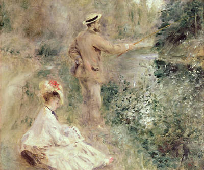 Impressionist Photograph - The Fisherman by Pierre Auguste Renoir