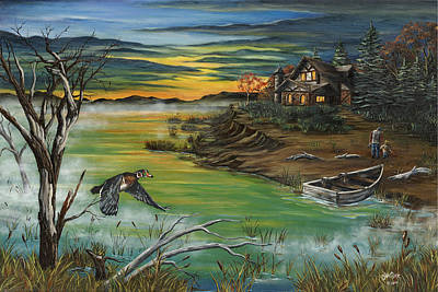 Redlin Painting - The Fisherman's Protege by Jim Olheiser