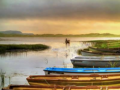 Donegal Photograph - The Fisherman's Return by Kim Shatwell-Irishphotographer