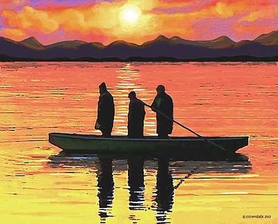 Painting - The Fishermen by Sophia Schmierer