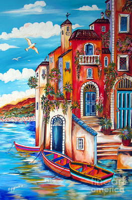The Fishermen Villa By The Amalfi Coast Art Print