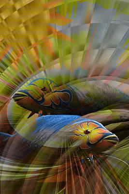 Digital Art - The Fishes by Holger Debek