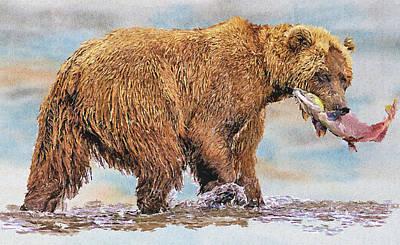 House Pet Digital Art - The Fishing Bear by Yury Malkov