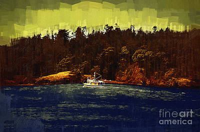 Digital Art - The Fishing Boat by Kirt Tisdale