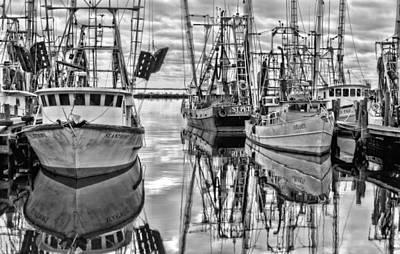The Fishing Fleet Bw Art Print