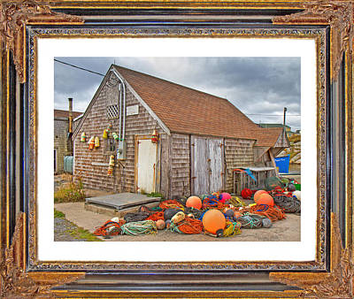 Shed Digital Art - The Fishing Village Scene by Betsy Knapp