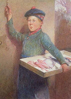 Delivering Drawing - The Fishmongers Call by Henry Benjamin Roberts
