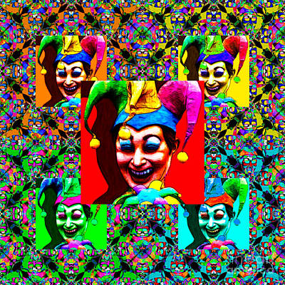 Jester Digital Art - The Five Jesters 20130129 by Wingsdomain Art and Photography