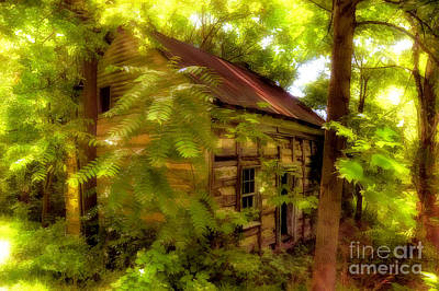 Log Cabins Digital Art - The Fixer-upper by Lois Bryan