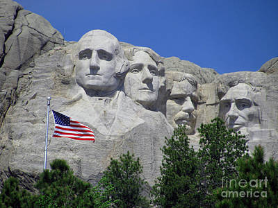 Photograph - The Flag And Presidents by Steven Parker
