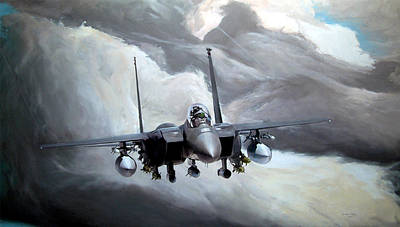 F15e Wall Art - Painting - The Flag Bearer by Kenneth Karl